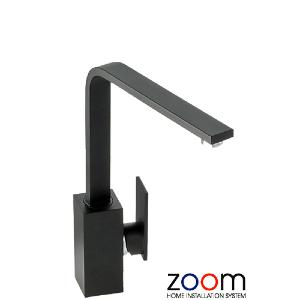 Abode Zoom New Media Single Lever Granite Black Mono Kitchen Sink Tap ZP1065