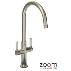 Abode Zoom Linear Style Brushed Mono Kitchen Sink Tap ZP1068