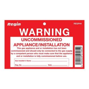 Regin REGP44 Uncommissioned Appliance Tag Pack Of 8