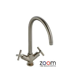 Abode Zoom Antila Monoblock Brushed Nickel Kitchen Sink Tap ZP1051