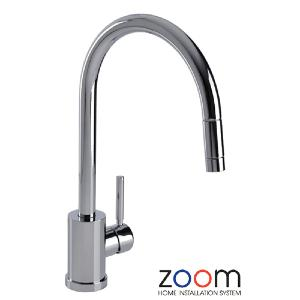 Abode Zoom Elmeria Monoblock Pull Out Kitchen Sink Tap