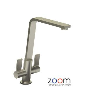 Abode Zoom Linear Flair Brushed Nickel Mono Kitchen Sink Tap ZP1070