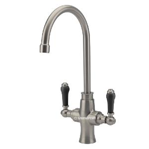 Tre Mercati Victoria Nero Brushed Nickel Kitchen Tap 92090A