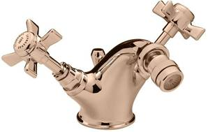 Tre Mercati Florence Mono Bidet Mixer Tap With Pop Up Waste Gold