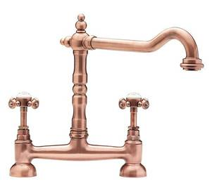 Tre Mercati French Classic Old Copper Bridge Sink Mixer Tap 185