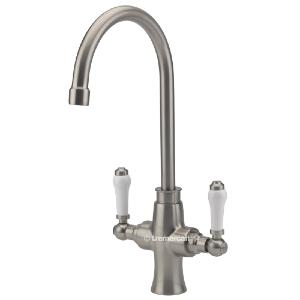 Tre Mercati Victoria Bianco Brushed Nickel Mono Kitchen Sink Tap 92080a