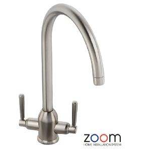 Abode Zoom Brampton Brushed Nickel Mono Kitchen Sink Tap ZP1011