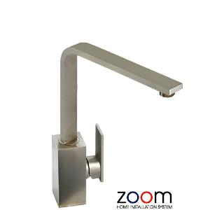 Abode Zoom New Media Single Lever Brushed Nickel Mono Kitchen Sink Tap ZP1064