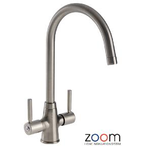 Abode Zoom Davenport Brushed Nickel Mono Kitchen Sink Tap ZP002