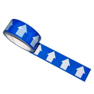 Regin REGA46 White Direction Arrow On Blue Tape 33 Metre Roll