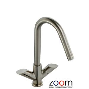 Abode Zoom Pixie Brushed Nickel Monobloc Kitchen Sink Tap ZP1057
