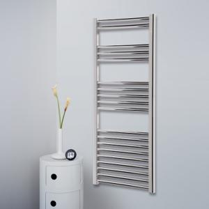 Towel Rail 1175mm x 400mm Straight Chrome Finish 4E12C