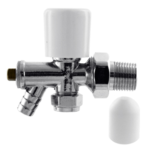 15mm radiator valve c w drain off cock. Black Bedroom Furniture Sets. Home Design Ideas