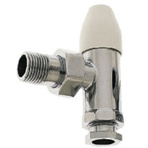 "Pegler Belmont Lock Shield Radiator Valve 15mm x 1/2"" Angled 680008"