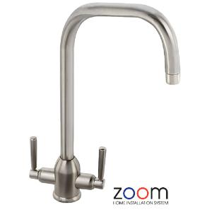 Abode Zoom Darley Brushed Nickel Monobloc Kitchen Sink Tap