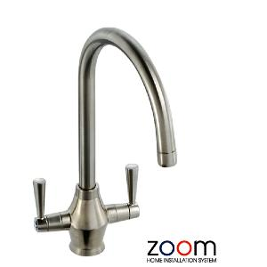 Abode Zoom Astral Brushed Nickel Mono Kitchen Sink Tap ZP1060