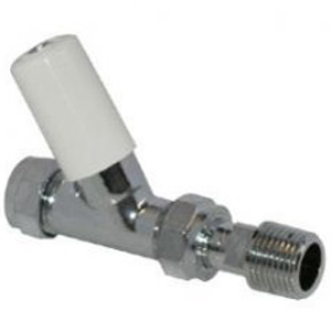 "Pegler Terrier Lock Shield 15mm x 1/2"" Straight Radiator Valve 602038"