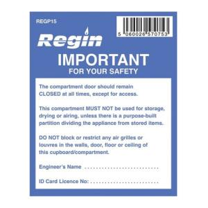 Regin REGP15 Important - Compartment Sticker Pack Of 8